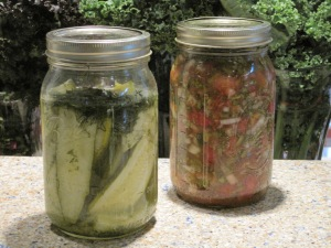 Lacto-fermented pickles and salsa